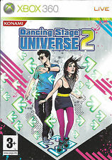 DANCING STAGE UNIVERSE 2 for Xbox 360 - with box & manual - PAL