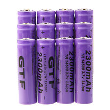12pcs 3.7V 2300mAh 14500 Rechargeable Li-ion AA Battery for LED Flashlight Torch