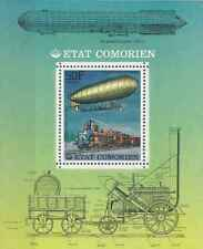 Timbre Trains Dirigeables Comores BF181 ** lot 24801