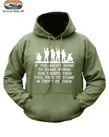 MENS SOLDIER HOODIE TROOPS MILITARY SPECIAL FORCES SIZE SMALL