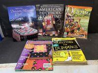 LOT OF 3 QUILTING Books & 5 Quilt Magazines