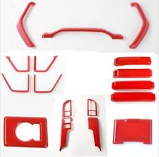 For Ford F150 2015-18 Interior Accessories Whole Kit Covers Trim ABS RED 17 pcs