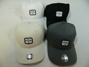New Lot of 4 Callaway Golf Hats Caps  Fitted Size S/M Black White Gray Tan