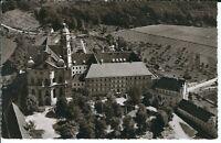 Ansichtskarte Abtei Neresheim - Luftaufnahme - Innenhof - schwarz/weiß