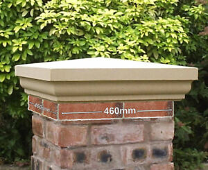 Fluted Cast Stone Pier Caps Two Sizes, 3 Colours Available Garden Walling Regal