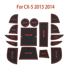 1set Door Mat Cup Pads for Mazda CX-5 CX5 2013-14 Interior Holder Gate Slot Pad