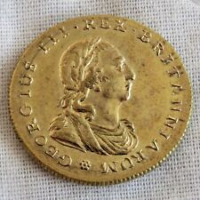 1761  KING GEORGE III CORONATION 20mm BRONZE GILT MEDAL - e thomason