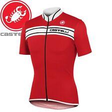 Castelli Prologo 3 Mens Jersey - Red/White - Sizes M, L, XL, 2XL, 3XL