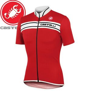 Castelli Prologo 3 Men's Cycling Jersey - Red/White