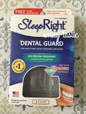 New Sleep Right No-Boil Dental Guard Dura Comfort w/ Storage Case + Nasal Aid