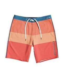 Quicksilver Mens Highline Massive Board Shorts Swimwear Orange 34