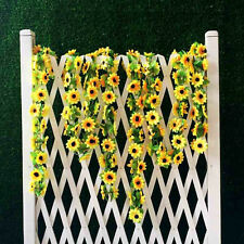 Artificial Sunflower Garland Silk Flower Vine Wedding Fence Decoration Fad US