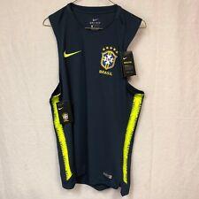 Nike Brazil 2018 Soccer Squad Sleeveless Training Top 893263 454 Size M