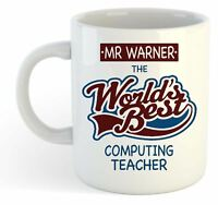 Personalised Worlds Best Computing Teacher Mug - Custom School Leaving Gift