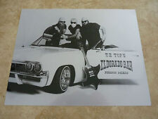 Zz Top Eldorado Bar Car Metallic Luster Finish B&W 8x10 Photo