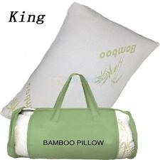 New King Hotel Bamboo Pillow Memory Foam Hypoallergenic Cool Comfort Travel Bag
