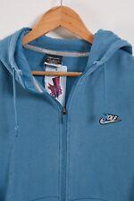 Nike Golf Zip-Up Sudadera Con Capucha De Algodón Para Hombre Azul Medio