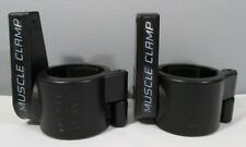 """1 Pair 2"""" Muscle Clamps Olympic Weight Lifting Bar Collars Training Gym Workout"""