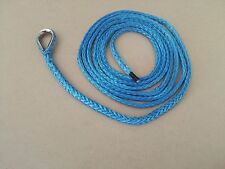 """Blue 3/16""""*10ft ATV Plow Lift Rope,Synthetic Rope,Electric UTV Winch Cable"""