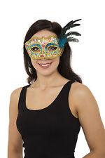 ADULT LADIES ANTOINETTE GLASSES STYLE EYE MASK FANCY DRESS CARNIVAL