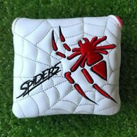 Golf Red Spider Web Square Magnetic Putter Headcover for Taylormade Scotty Ping