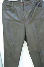 """UNUSUAL LEATHER PARTY PANTS by TOGETHER-WOMENS 16 (34X27 1/2"""")-DARK BROWN-COOL"""
