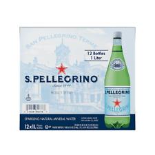 San Pellegrino Sparkling Natural Mineral Water 33.8oz Plastic Bottles 12pk 1ltr