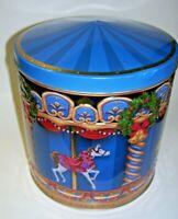 Vintage Merry Go Round Carousel Tin Box