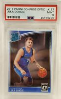 🎄☃️📈 2018 Donruss Optic #177 Luka Doncic Dallas Mavericks RC Rookie PSA 9 MINT