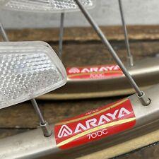 Vintage 700c Wheel Set Araya Bronze Gold Suzue Sealed Hubs 126mm 36h