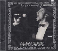 Alejandro Fernandez 100 Anos De Musica Mexicana En Vivo CD New Sealed