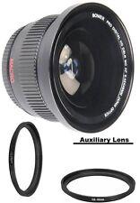 Bower Wide Fisheye Lens for Canon T7i T6i T6s T5i T4i T3i T2i T1i SL1 T3 T5 XS