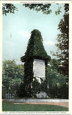 Lexington, Massachusetts, Revolutionary War, Monument - Postcard (HHH)