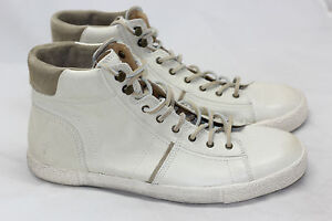 NEW Mens FRYE 'Bedford' High Lace Sneaker - Classic Soft Off White - 9US  (A20)