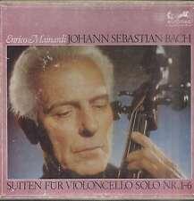 Enrico MAINARDI, J.S. BACH Suites violoncelle solo German box 4 LPs EURODISC