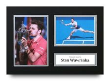 Stan Wawrinka Signed A4 Photo Display US Open Tennis Autograph Memorabilia + COA