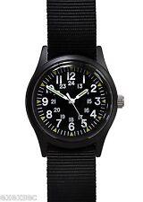 Military Industries Matt Black 1960/70s Vietnam War Pattern Military Watch