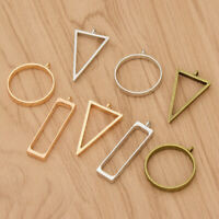 10PCS Hollow Metal Frame Pendant Necklace Bracelet Jewellery Making Supplies DIY