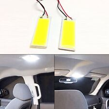 2x LED Panel Light Xenon White COB Interior Door Trunk Map Dome Bulb T10 Festoon