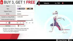 ✨Shiny Salazzle✨Pokemon Sword and Shield Perfect IV🚀Fast Delivery🚀