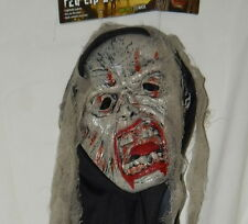 Fun World Crypt Creature Mask Red Lip Zombie Gauze New