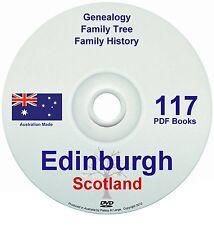Family History Tree Genealogy Edinburgh Scotland 117 historic books new DVD