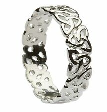 Sterling Silver Ladies Trinity Knot Celtic Ring 6mm
