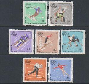 Mongolei - 1967, Winter Olympische Spiele Set - MNH - Sg 450 56