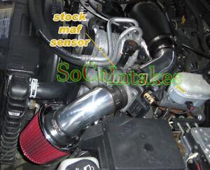 Black Red Cold Air Intake System Kit For 1996-2001 Oldsmobile Bravada 4.3L V6