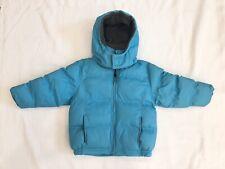 Girls Beautiful Turquoise Blue Puffer Ski Jacket By Andy Johns Sz S EEUC