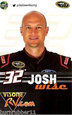 "2015 JOSH WISE ""VISONE RV.COM"" #32 NASCAR SPRINT CUP B/B POSTCARD"