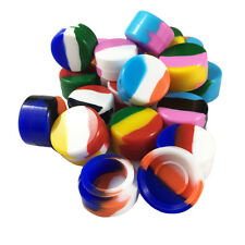 Pack of 20pcs Non-Stick Silicone Container Jar 20 Non-Solid Colors 5ML Capacity