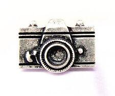Ajustable plata cámara anillo punk gótico motero gótico