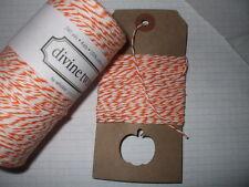 10mt 'Orange' DIVINE BAKERS TWINE   Packaging Parties  Halloween Embellishment
